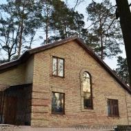 (Код объекта Н3822)Цена снижена!!!Ирпень.Надёжный,кирпичный дом 250 м2,с личным хвойным лесом на 8 сотках,огромный гараж,два заезда,городские коммуникации!