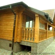 (код  H5217)  Продажа   дома (деревянный  брус)  с  выходом  на  реку Стугна   в  с.Таценки  Обуховский  район.