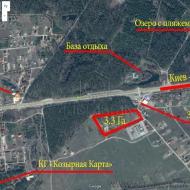 Без Комиссии Продам участо 3,3Га под бизнес Бузовая Макаров Березовка (Код T15172)